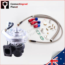 New T3 T4 TO4E Turbo Turbocharger 420HP  + Oil Drain Return + Oil FEED Line Kit
