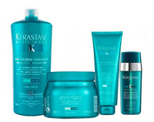 KERASTASE RESISTANCE THERAPISTE- Kit Masque 500 +Shampoo 450 + Soin 1000 + Serum