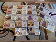 Vtg Lot Of 17  X-ACTO House Of Miniatures Doll House Furniture Kits 1977 New