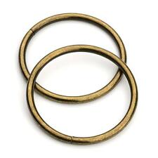 "10pcs - 2"" Metal O Rings Non Welded Antique Brass (ORG-134)"
