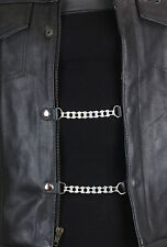 Vest Extenders Bike Chain Motorcycle Biker Leather Jacket  6 Inch-4 Pcs Set