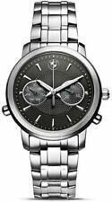 BMW Armbanduhr Damen (schwarz/silber) Uhr Damenuhr Wasserdicht 100m Kratzfest