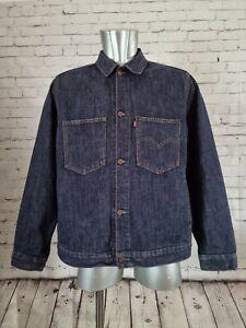 Levi's 70511 90s dark wash denim jacket enginered style with open pockets Large