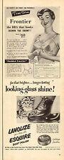 1950 vintage ADS True Form Frontier front hook BRA & Esquire Boot Polish 052115