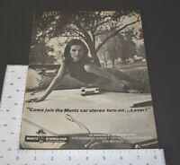 1969 Vintage Print Ad Muntz Car Stereo 8 Track Player Stereo-Pak Cartridge Radio
