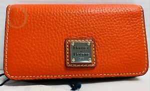 NWT*Dooney & Bourke Leather*Tangerine*Slim Case Wallet* 21094K S166