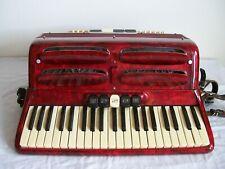Settimio Soprani Coletta Piano Accordion Red in Original Case - WORKS