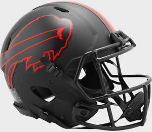 Buffalo Bills Unsigned Eclipse Black Authentic Full Size Riddell Helmet