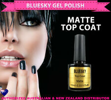 Bluesky Soak Off UV/LED Gel Nail Polish MATTE TOP COAT 10ml - needs UV/LED lamp
