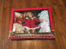 "NOS Christine's Fashion Ensemble Doll With 5 Dresses Season's Glamour 13-14"""