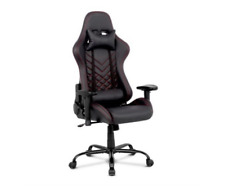 New Gaming Office Chair Computer Racing Recliner Executive PU Leather Black