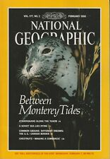 National Geographic February 1990 Monterey Bay, Athapaskans, Aral Sea, US Canada