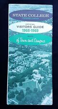 1968 Official Visitors Guide State College PA Maps Town Campus Local Businesses