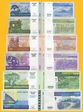 Madagascar Set 100, 200, 500, 1000, 2000, 5000 Ariary 2004-2008 UNC Banknotes