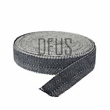 """1 mtr - BLACK & WHITE 2"""" UPHOLSTERY WEBBING for seats & furniture  FREE POST"""
