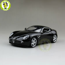 1/24 Alfa Romeo 8C Competizione Welly 22490 Diecast Model Car Black