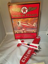 WINGS OF TEXACO 1930 TRAVEL AIR MODEL R MYSTERY SHIP AIRPLANE REG - #5 in Series