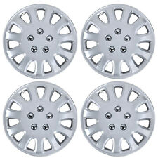 """4 PC Set 14"""" Silver Hubcaps Wheel Cover OEM Replacement Wheel Skin Cover"""