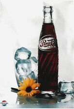 Original vintage poster PEPSI COLA ICE FREEZE FLOWERS c.1975
