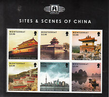 Montserrat 2012 MNH Sites & Scenes of China 6v M/S Gate Heavenly Peace Pudong