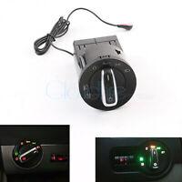 Chrom Auto Scheinwerferschalter + Lichtsensormodul Für VW Golf Mk4 Passat Polo