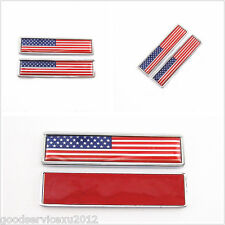 2 Pcs American National Flag Logo Body Decorative 3M Stickers For Us Motorcycle(Fits: Mastiff)