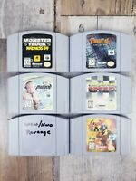 Nintendo 64 WCW NWO Revenge, Turok 2, Games Lot Of 6 Authentic Carts Only Tested