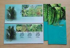 2010 Malaysia Paku Pakis Ferns 5v Stamps & MS on 2 FDC (Kuala Lumpur Cachet)