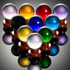 80mm Glass Crystal Healing Ball Photography Lens Ball Sphere Decor 10 Colors