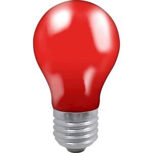 Crompton 25 Watt ES Fitting Bulb Red GLS - Colour Glazed Lamp