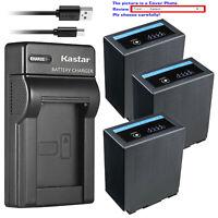 Kastar Battery Slim Charger for CGA-D54 D54s Pro Panasonic AG-HPX255 AG-HPX255P