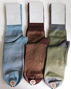 VK Nagrani Men's Premium Luxury Socks Over Calf L813 Gray Wine Blue