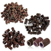 "100 Pcs Stunning Nail Drill Sanding Bands Machine Replacement Bits Pedicure 80"""