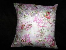"PINK FAIRIES  PILLOW COVER FOR 16""  INSERT MICHAEL MILLER FABRIC"