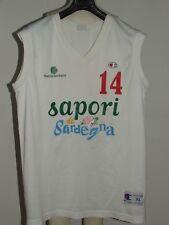 MAGLIA SHIRT MAILLOT CANOTTA  BASKET SPORT BANCO DI SARDEGNA SASSARI n°14