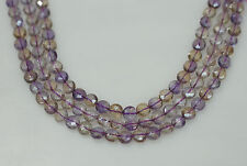 8mm Faceted Coin Shape Genuine Ametrine Bead