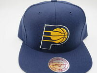 Indiana Pacers Blue Throwback Mitchell & Ness NBA Custom Snapback Hat Cap