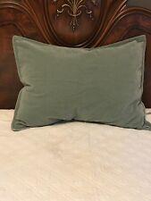 FAB! RARE! Vintage Ralph Lauren Sage Green Velvet One (1) STD Pillow Sham USA