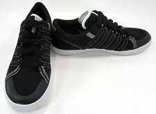 K-Swiss Shoes Canvas Stitched Classic Trainers Black/White Sneakers Size 10.5