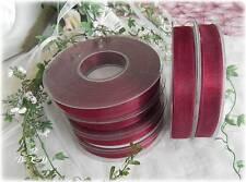 (m/0,12€)  50m Organzaband Breite 15mm bordeaux Kommunion Hochzeit  Taufe