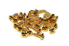 Pickguard and Backplate screws for Gibson guitars Qty 25 Gold finish