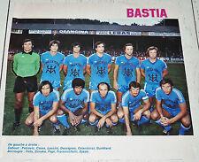 CLIPPING FOOTBALL 1976-1977 SEC BASTIA FURIANI SECB - GIRONDINS DE BORDEAUX
