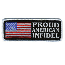 PROUD AMERICAN INFIDEL TACTICAL MORALE INFIDEL IRON  ON PATCH
