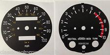 YAMAHA XT500 SPEEDOMETER AND TACHOMETER CLOCK FACE RESTORATION DECALS 78 - 84 2