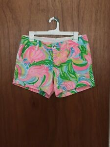 Lilly Pulitzer Callahan Shorts Size 4 Elephants Multicolor Pockets