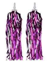 Girls Handlebar Bike Tricycle Streamers Ribbons Tassels Kids Pink/Purple Pair