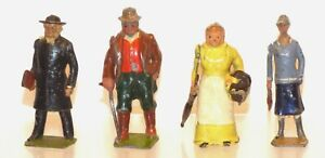 FF02 a few uncommon Britains Civilian figures in fair - good undamaged condition