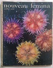 NOUVEAU FEMINA magazine N° 16 1955 Collector VINTAGE 1950. Mode Actualités Arts.