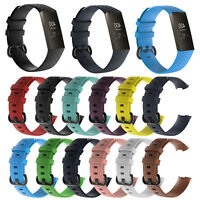 Silicone Replacement Bracelet Wrist Watch Strap Band For Fitbit Charge 3 Tracker