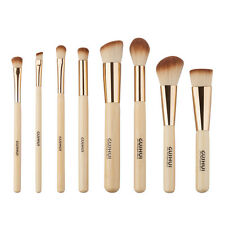 8Pcs Bamboo Makeup Brushes Set Foundation Powder Eyeshadow Eyeliner Lip Brush US